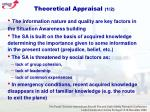 theoretical appraisal 1 2