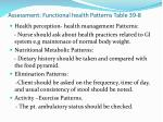 assessment functional health patterns table 39 8