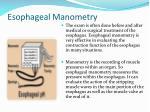 esophageal manometry