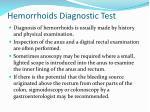 hemorrhoids diagnostic test