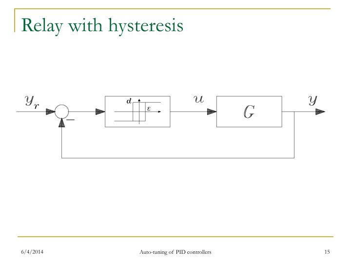 Relay with hysteresis