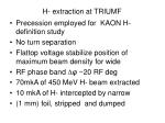 h extraction at triumf