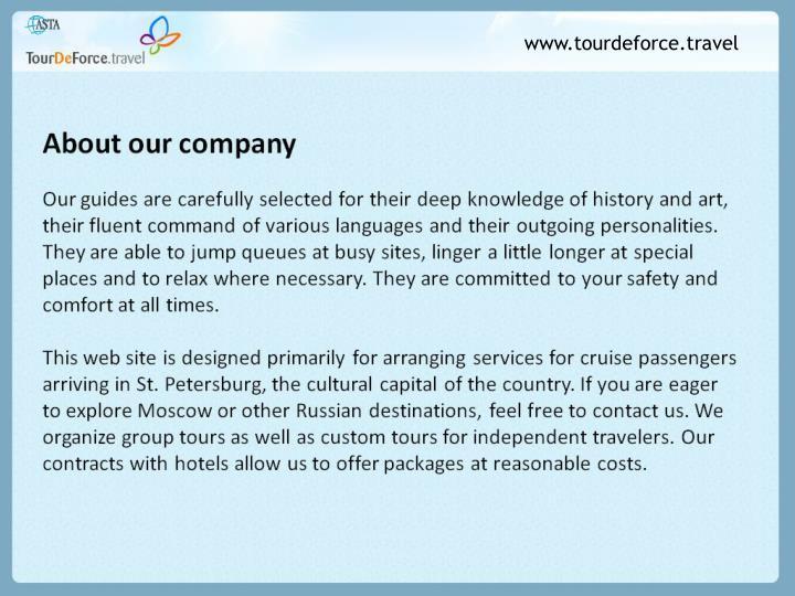 Www.tourdeforce.travel