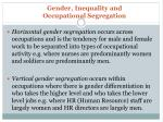 gender inequality and occupational segregation