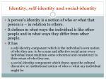identity self identity and social identity
