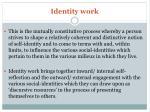 identity work