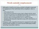 work outside employment