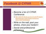 facebook @ cyfar