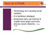 tech @ cyfar