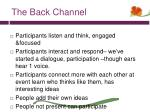 the back channel1