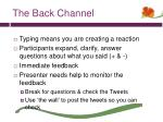 the back channel2