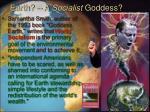 earth a socialist goddess