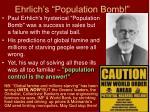 ehrlich s population bomb