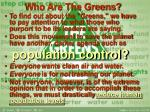 who are the greens