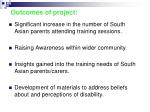 outcomes of project