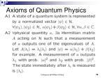 axioms of quantum physics