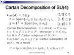 cartan decomposition of su 4