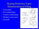 hearing protection types demonstration of fitting