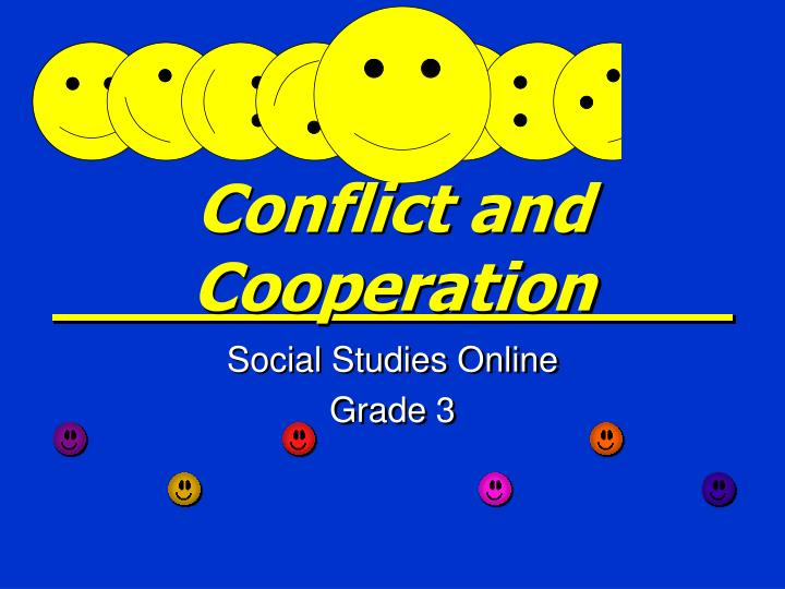 conflict and cooperation n.