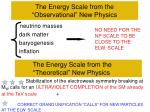 the energy scale from the observational new physics