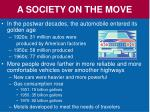 a society on the move