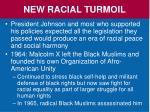 new racial turmoil
