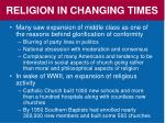 religion in changing times