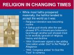religion in changing times1