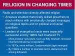 religion in changing times5
