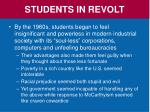 students in revolt