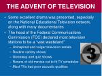 the advent of television2