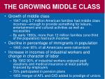 the growing middle class