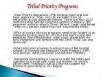 tribal priority programs