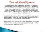 trust and natural resources