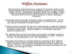 welfare assistance