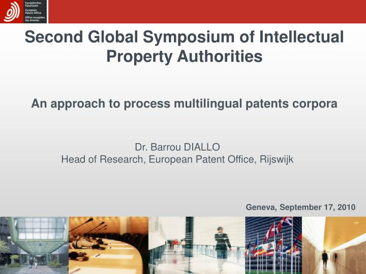 second global symposium of intellectual property authorities n.
