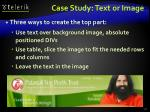 case study text or image