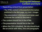 distinguish between content and style