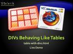 divs behaving like tables1