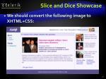slice and dice showcase