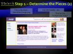 step 1 determine the pieces 2