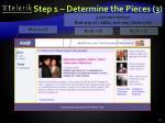 step 1 determine the pieces 3