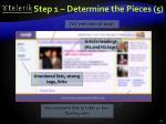 step 1 determine the pieces 5