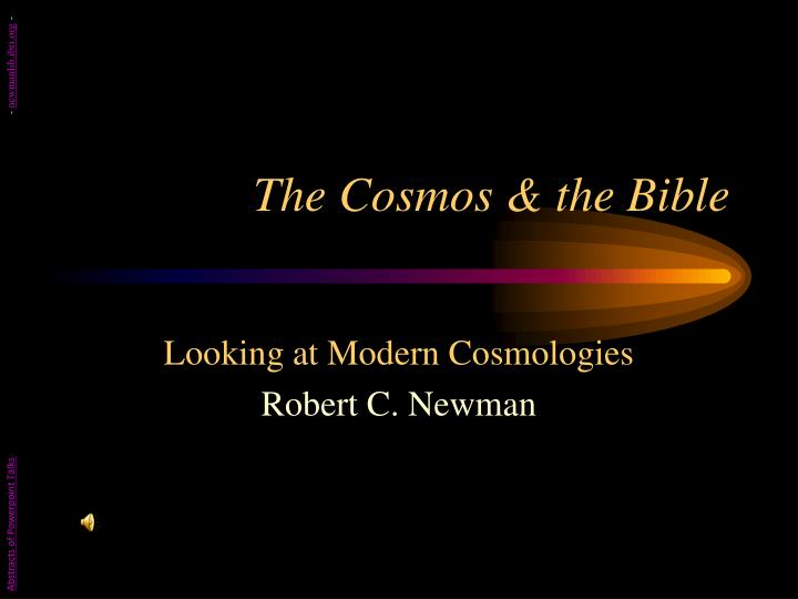the cosmos the bible n.
