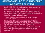 americans to the trenches and over the top