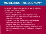 mobilizing the economy1