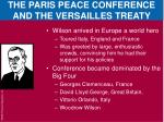 the paris peace conference and the versailles treaty