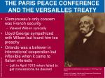 the paris peace conference and the versailles treaty1