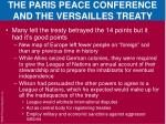 the paris peace conference and the versailles treaty4
