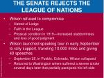 the senate rejects the league of nations4